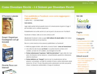 blogcomediventarericchi.wordpress.com screenshot