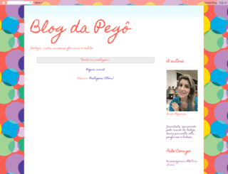 blogdapego.blogspot.com.br screenshot