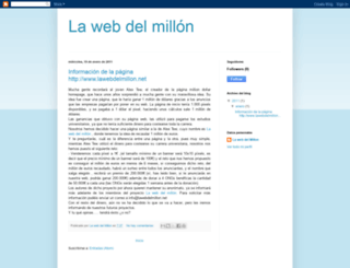 blogdelmillon.blogspot.com screenshot