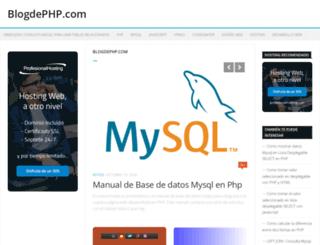 blogdephp.com screenshot