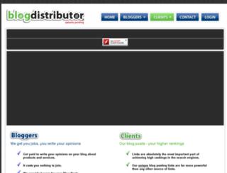 blogdistributor.com screenshot