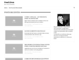 blogdofredlima.com.br screenshot