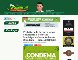 blogdowagnergil.com.br screenshot