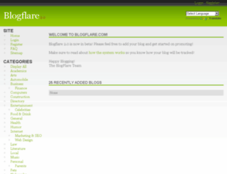 blogflare.com screenshot