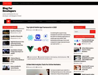 blogfordeveloper.com screenshot