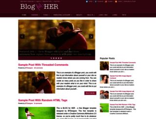 blogforher-demo.blogspot.com.tr screenshot