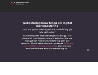 blogg.webbstrategerna.se screenshot