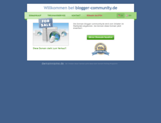 blogger-community.de screenshot