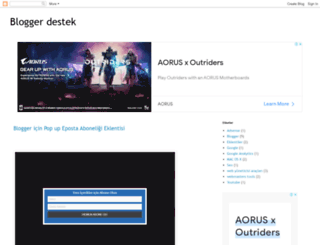 blogger-destek-yardim.blogspot.com.tr screenshot