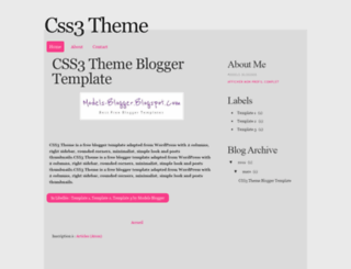 blogger-template-css3-theme.blogspot.com.au screenshot