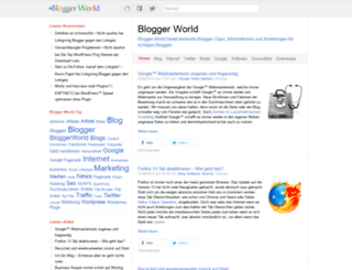 blogger-world.de screenshot