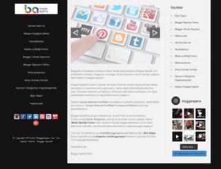 bloggerajans.com screenshot