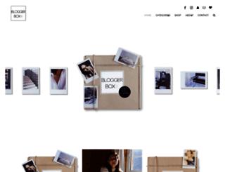 bloggerboxx.com screenshot