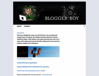 bloggerboy.net screenshot