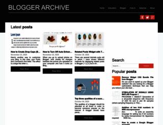 bloggerchive.blogspot.com screenshot