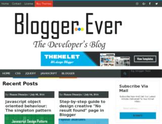 bloggerever.com screenshot