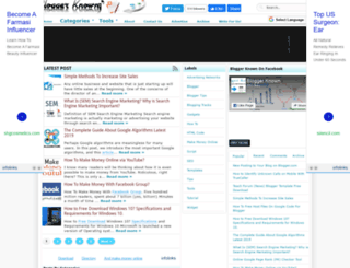 bloggerknown.blogspot.com screenshot