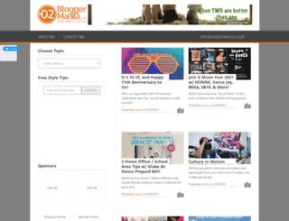 bloggermanila.com screenshot