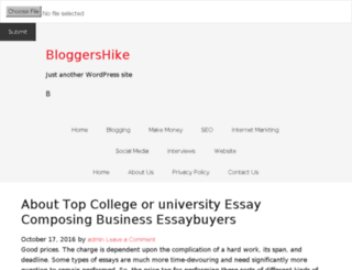 bloggershike.com screenshot