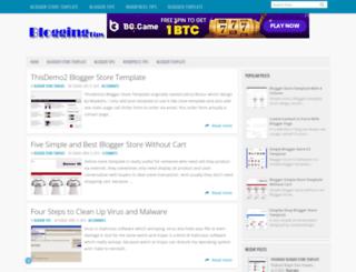 bloggershoptemplate.blogspot.com screenshot