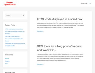 bloggertipsandtricks.com screenshot
