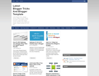 bloggertrickstutorialtemplate.blogspot.com screenshot