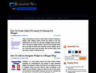 bloggertrix.com screenshot