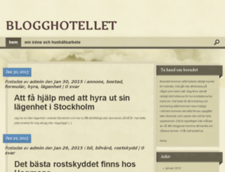 blogghotell.se screenshot