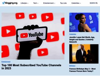 blogging.org screenshot