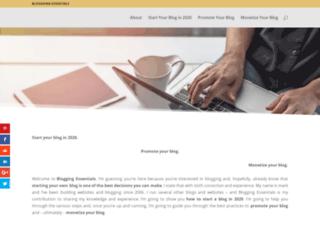 bloggingessentials.com screenshot