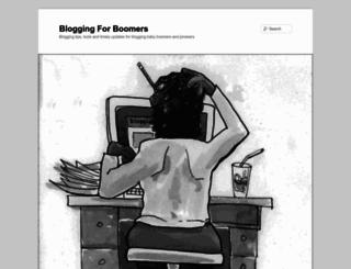 bloggingforboomers.com screenshot