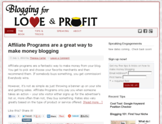 bloggingforloveandprofit.com screenshot