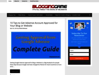 blogginggame.com screenshot