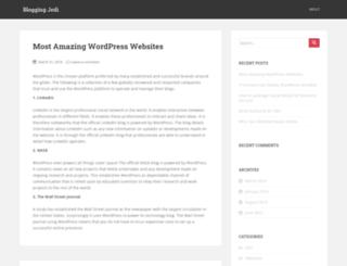 bloggingjedi.com screenshot