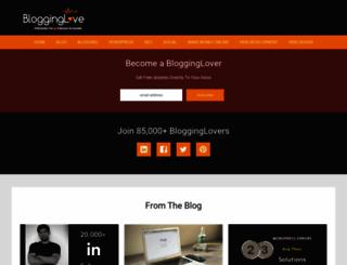 blogginglove.com screenshot