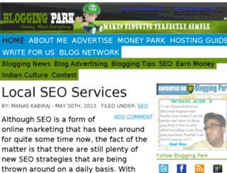bloggingpark.com screenshot