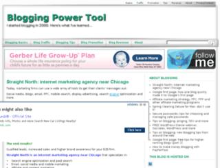 bloggingpowertool.com screenshot