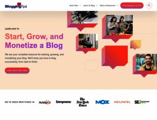 bloggingtips.com screenshot