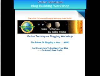 bloggingworkshop.net screenshot
