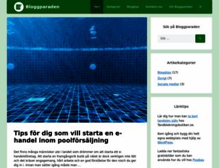 bloggparaden.se screenshot