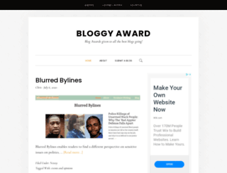 bloggyaward.com screenshot