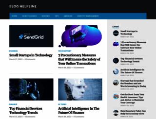 bloghelpline.com screenshot