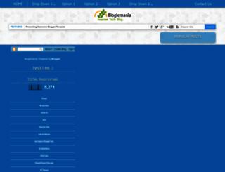 blogiemania.blogspot.in screenshot