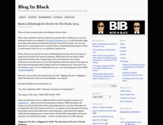 bloginblack.de screenshot