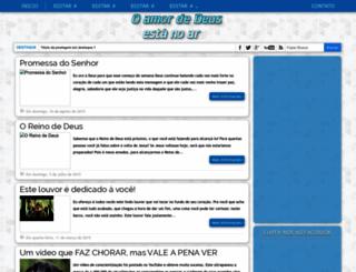 blogoamordedeusestanoar.blogspot.com.br screenshot