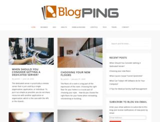 blogpingsite.com screenshot