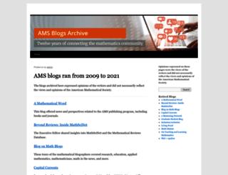 blogs.ams.org screenshot