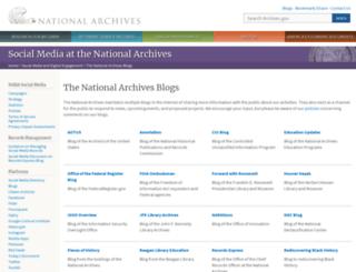 blogs.archives.gov screenshot