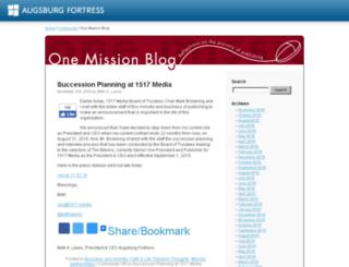 blogs.augsburgfortress.org screenshot