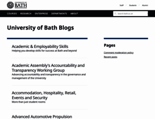 blogs.bath.ac.uk screenshot